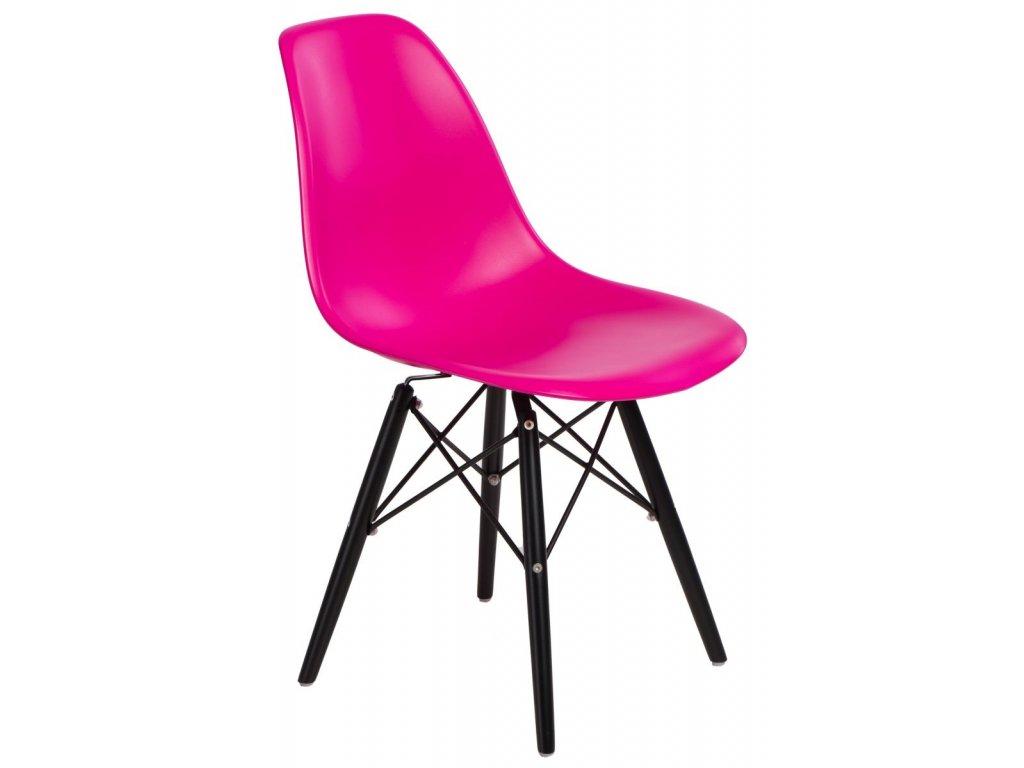Stoličky P016V PP tmavo ružová / čierna