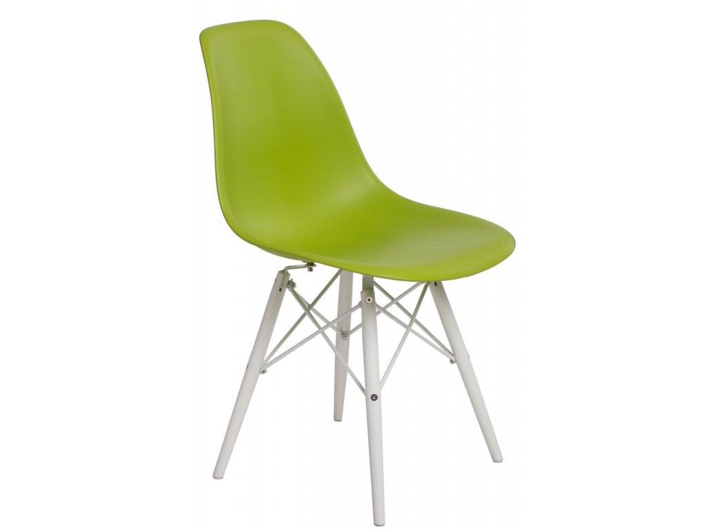 Stoličky P016V PP zelená / biela