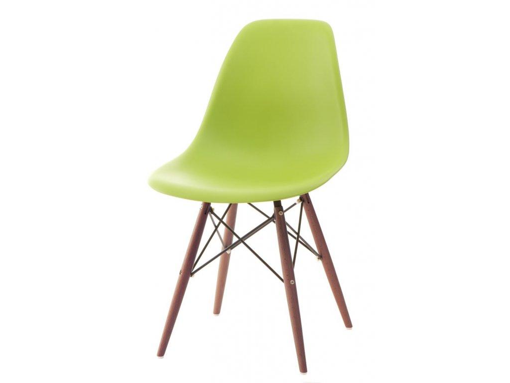 Stoličky P016V PP zelená / tmavá