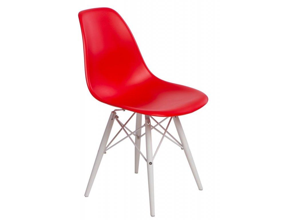 Stoličky P016V PP červená / biela
