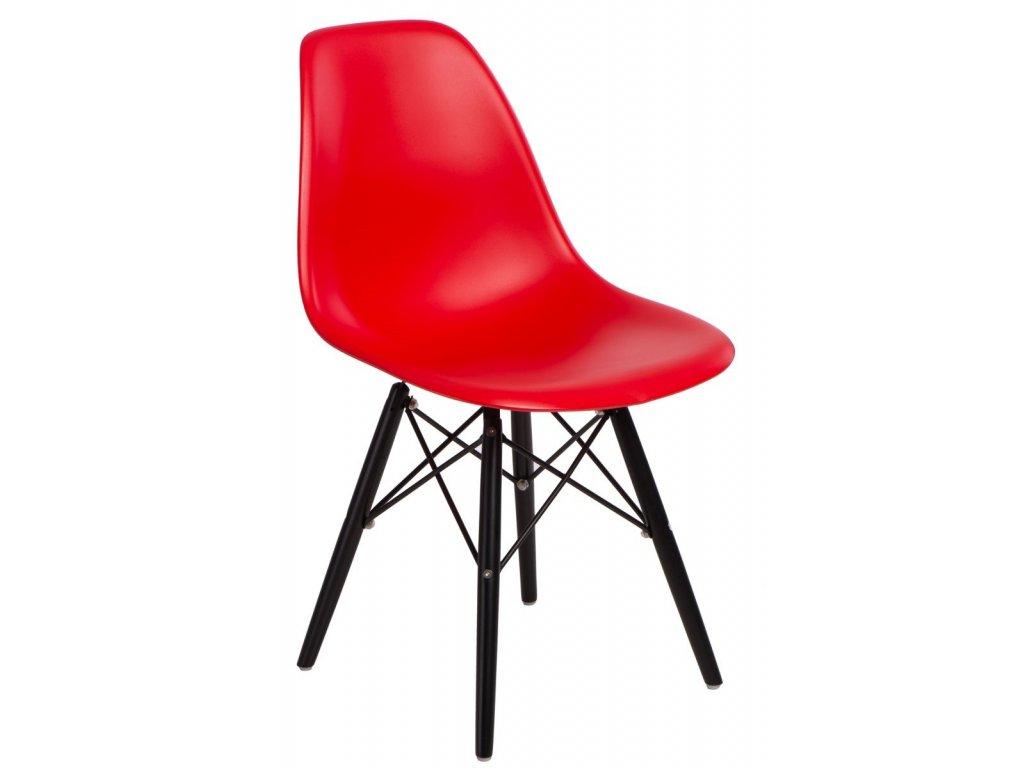 Stoličky P016V PP červená / čierna