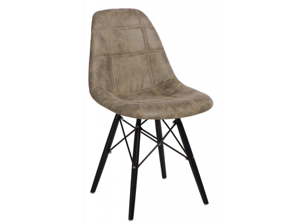 Stoličky P016V Pico olivová / čierna