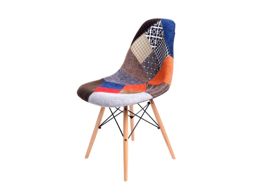 Stoličky P016V patch work, drevené nohy