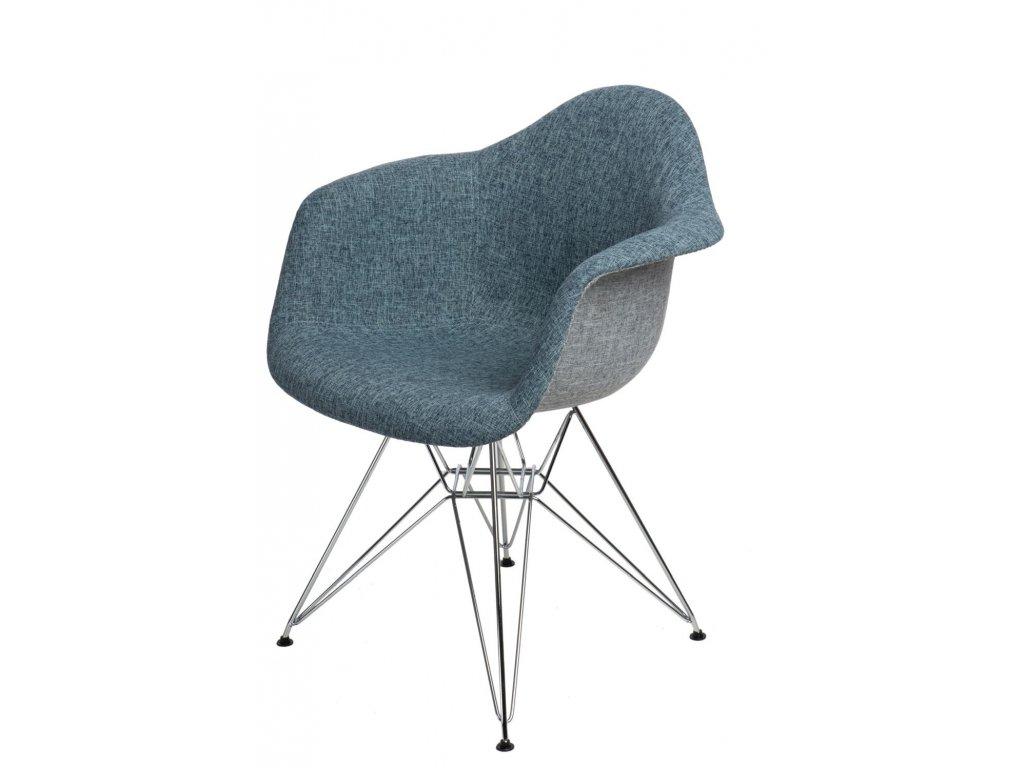 Stoličky P018 DAR Duo modrá - sivá