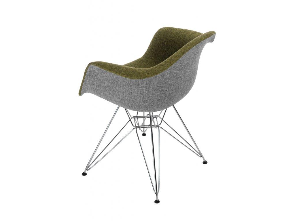 Stoličky P018 DAR Duo zelená - šedá