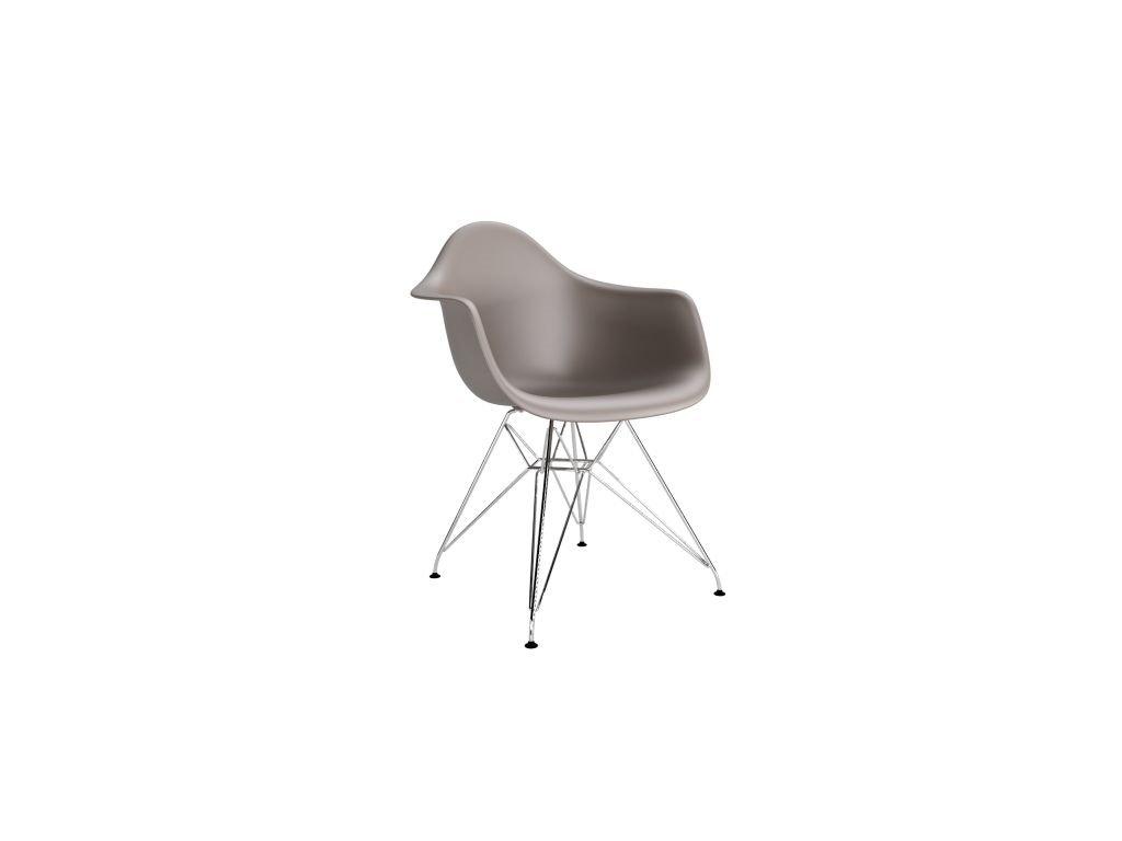 Stoličky P018 PP Milde šedá, chróm nohy HF