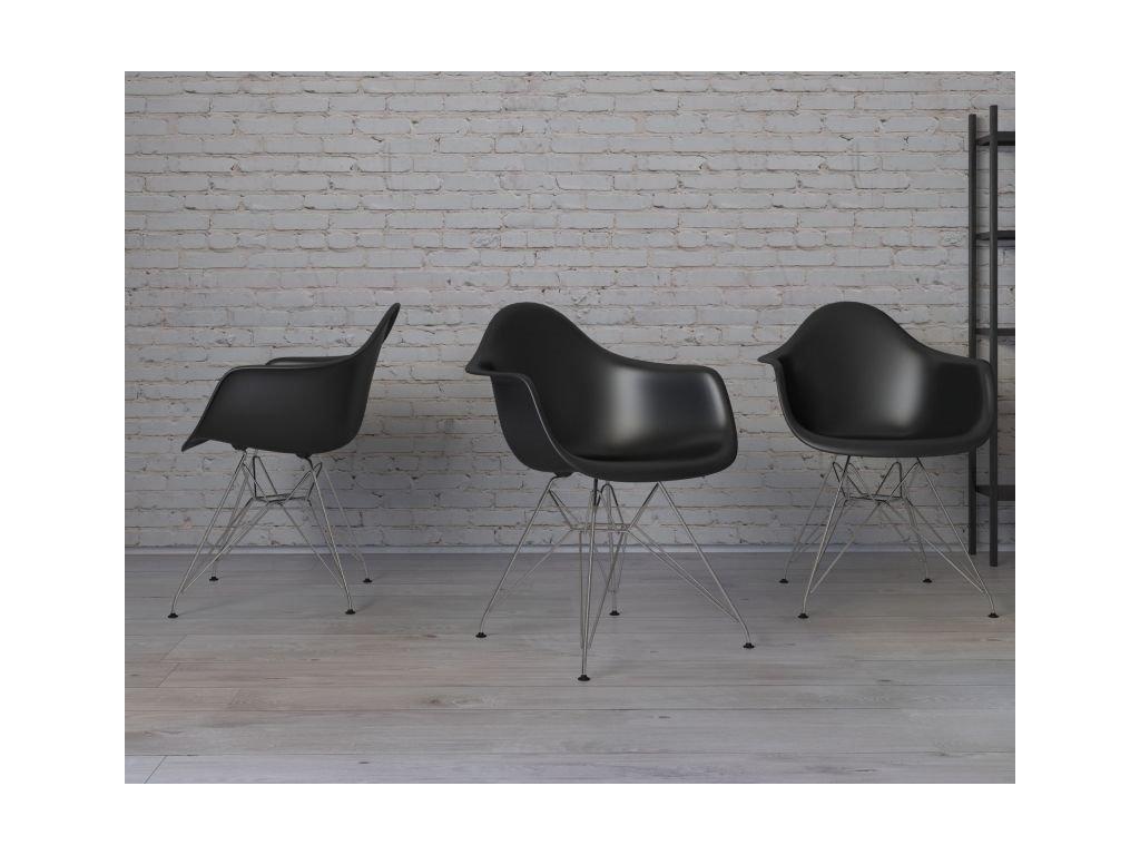 Stoličky P018 PP čierna chróm nohy HF