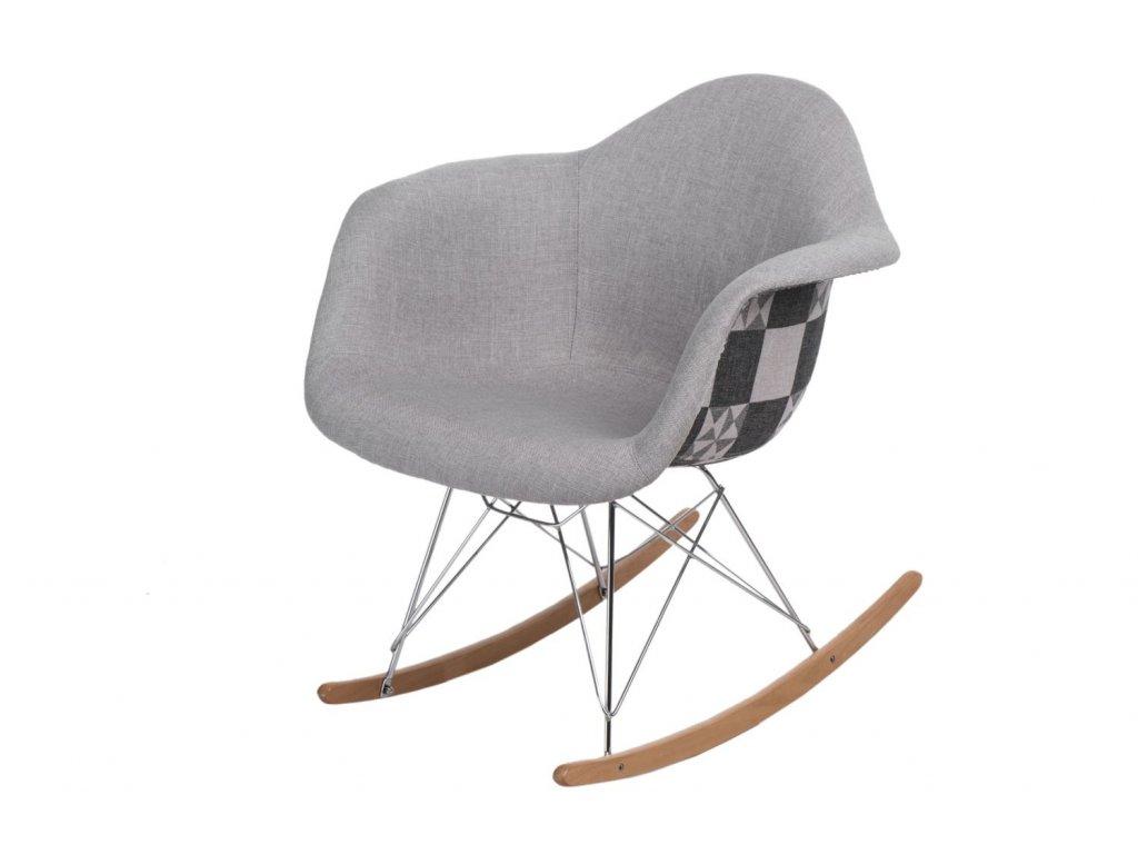 Stoličky P018 RAR Vzor sivá / patchwork
