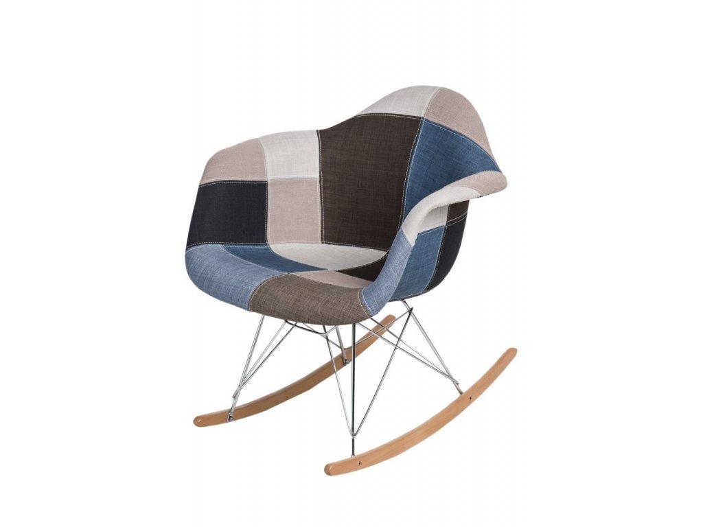 Stoličky P018 RAR patchwork modrá - sivá