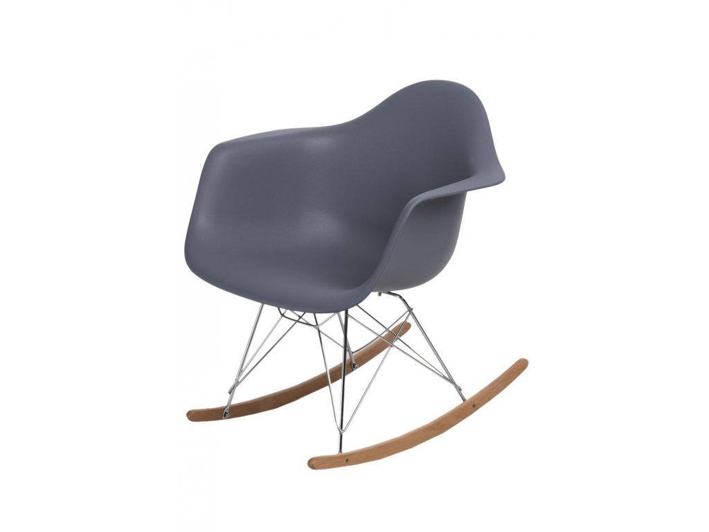 Stoličky P018 RR PP tmavá sivá inšpirovaná RAR