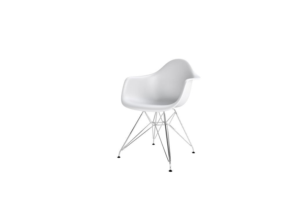 Stoličky P018PP biela, chróm nohy HF