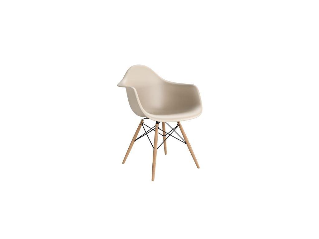 Stoličky P018V PP béžová, drevené nohy