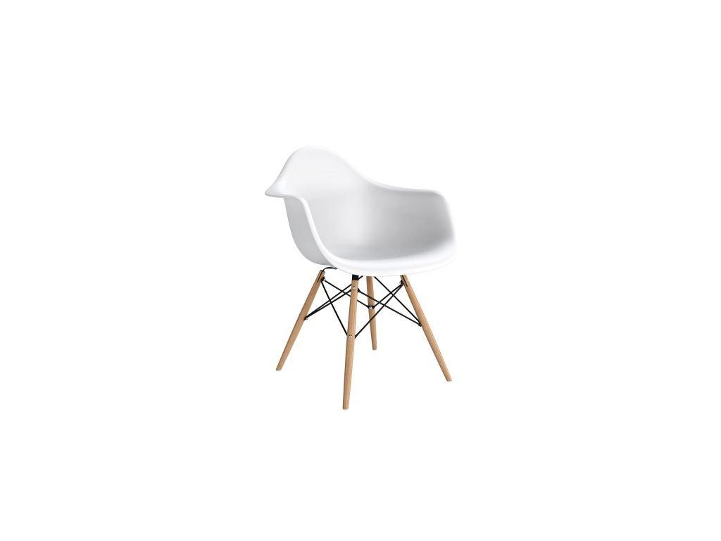 Stoličky P018V PP biela, drevená nohy HF