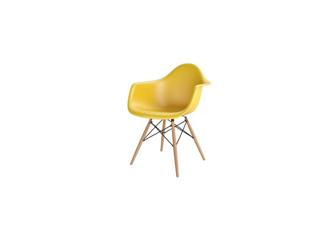 Stoličky P018V PP tmavá olivová, drevené nohy HF
