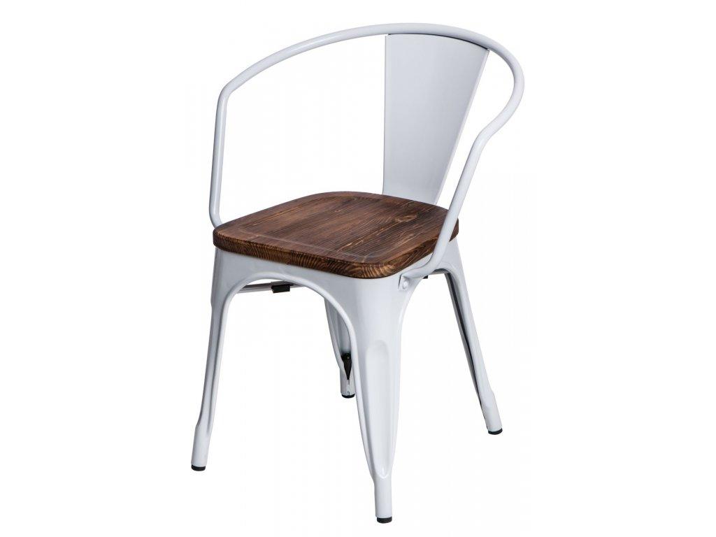 Stoličky Paris Arms Wood biela sosna