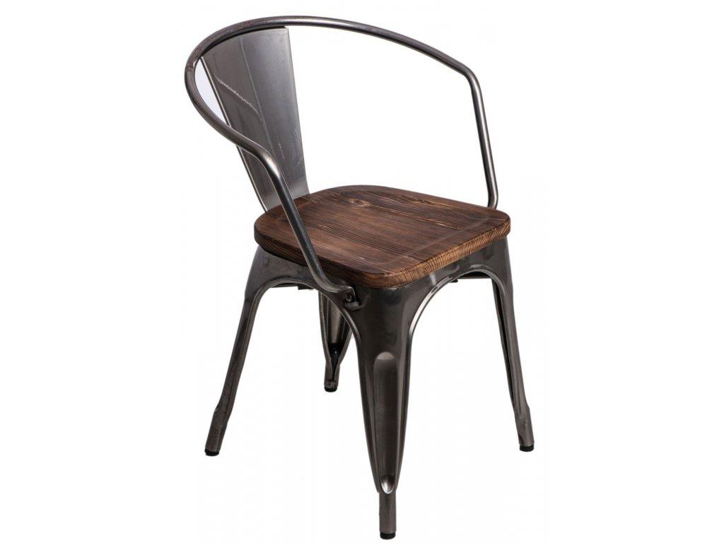 Stoličky Paris Arms Wood metalická sosna