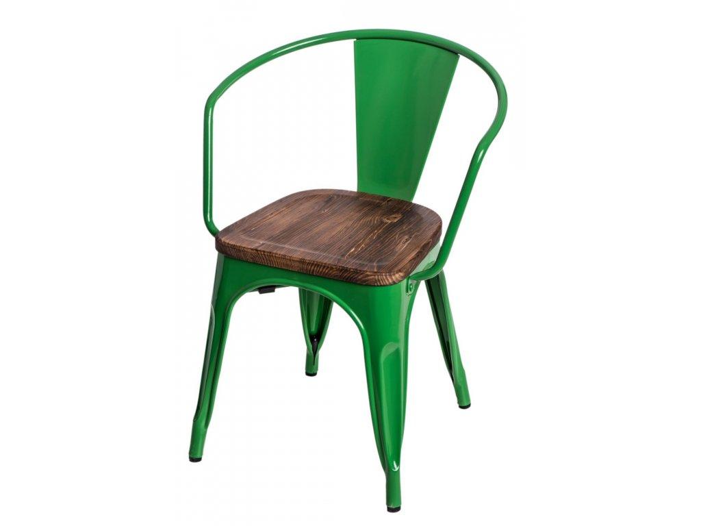 Stoličky Paris Arms Wood zelená sosna