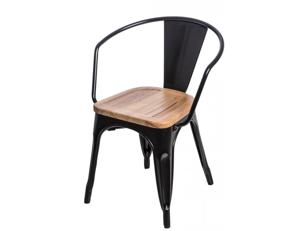 Stoličky Paris Arms Wood čierna jaseň
