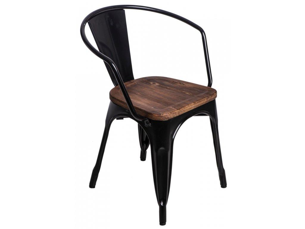 Stoličky Paris Arms Wood čierna sosna