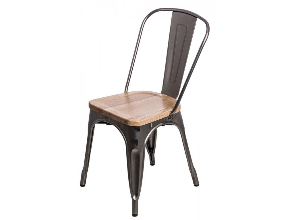Stoličky Paris Wood metalická jaseň