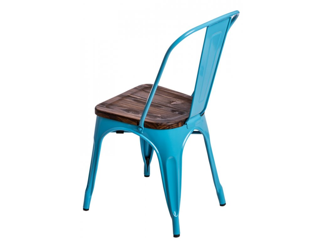 Stoličky Paris Wood modrá sosna