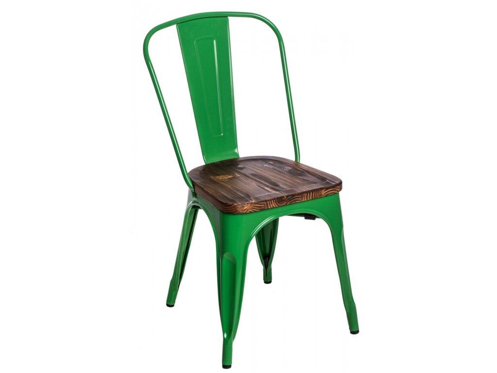 Stoličky Paris Wood zelená sosna