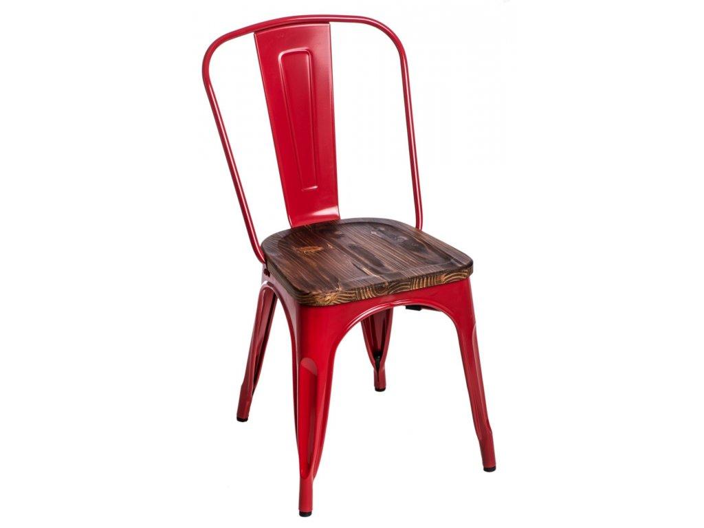 Stoličky Paris Wood červená sosna