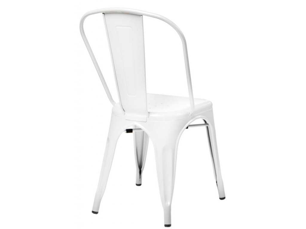 Stoličky Paris biela inšpirované Tolix