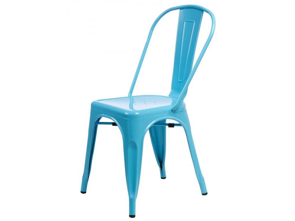 Stoličky Paris modrá inšpirované Tolix