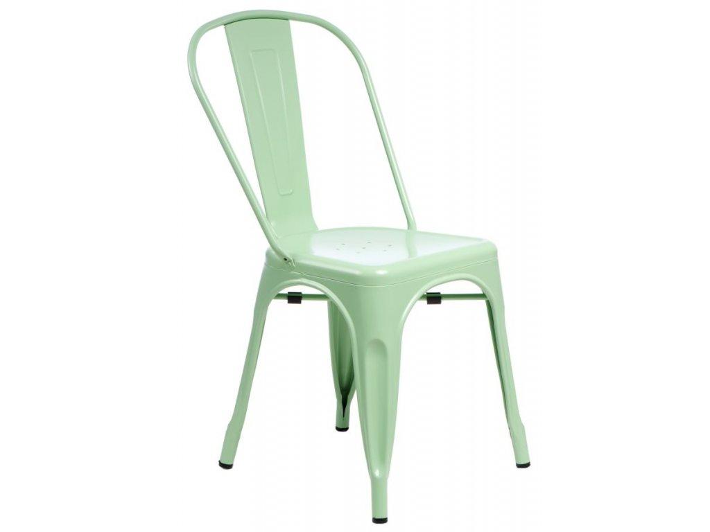 Stoličky Paris zelená inšpirované Tolix