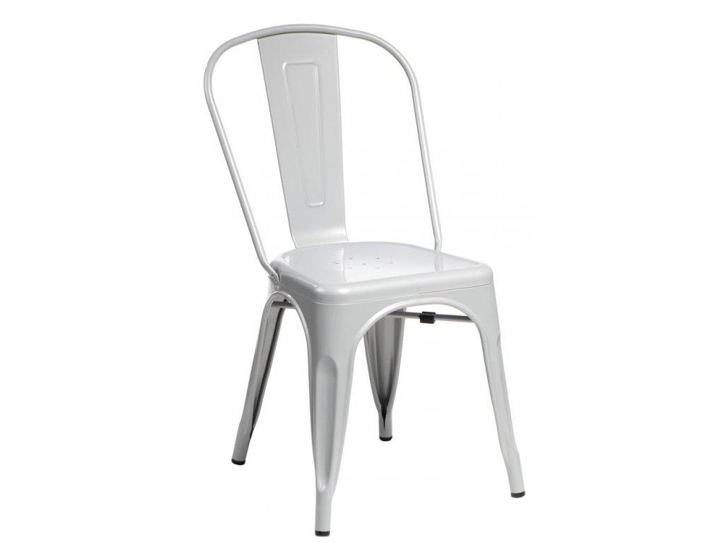 Stoličky Paris šedá inšpirované Tolix