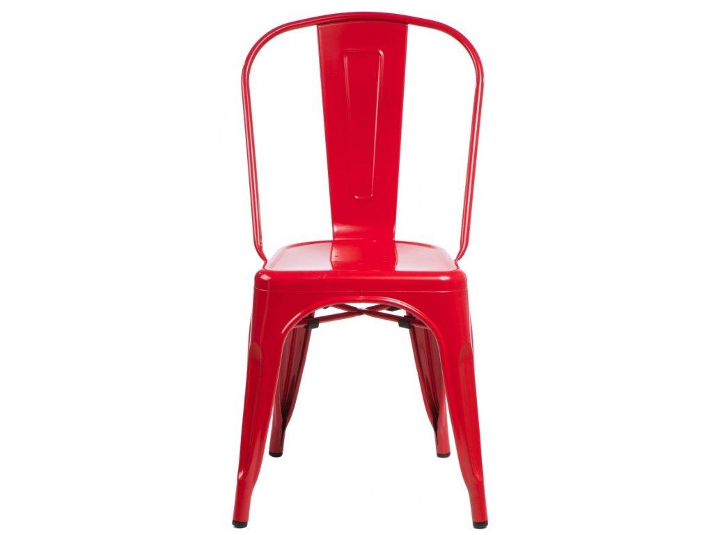 Stoličky Paris červená inšpirované Tolix
