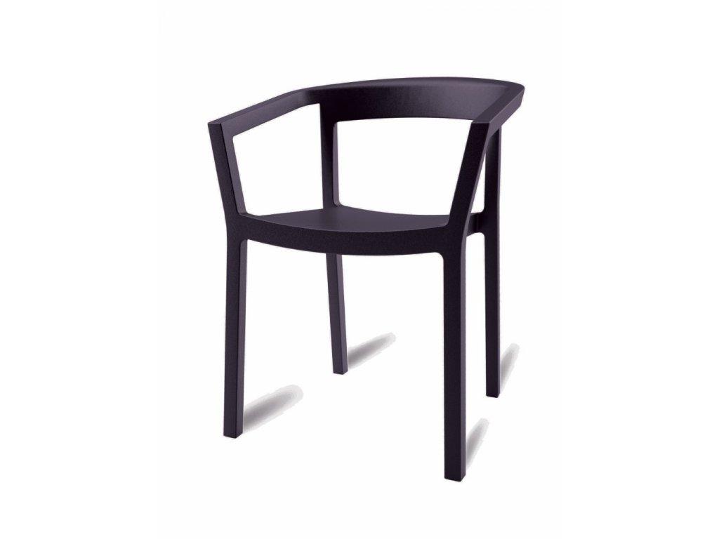 Stoličky Peach čierna