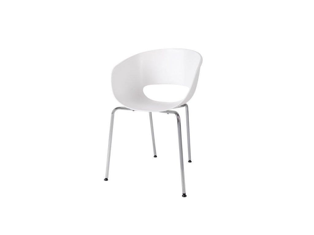 Stoličky Shell biela
