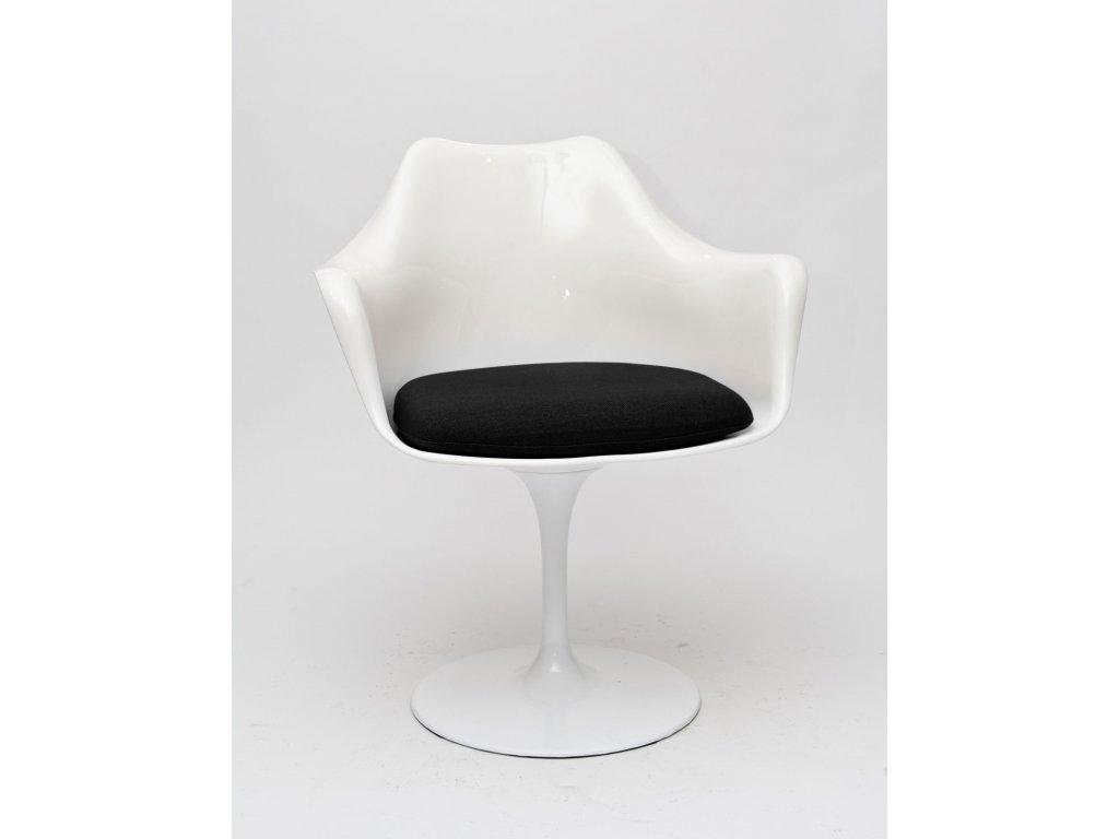 Stolička Tulare biela / čierny vankúš