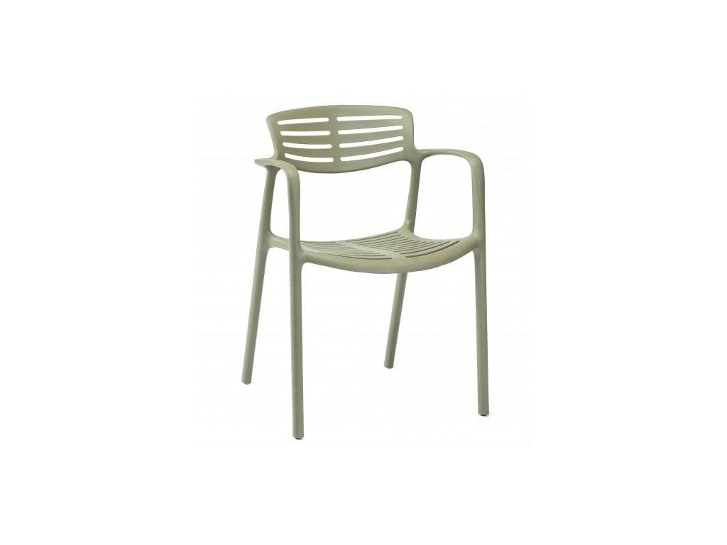 Stoličky Toledo Aire zelená