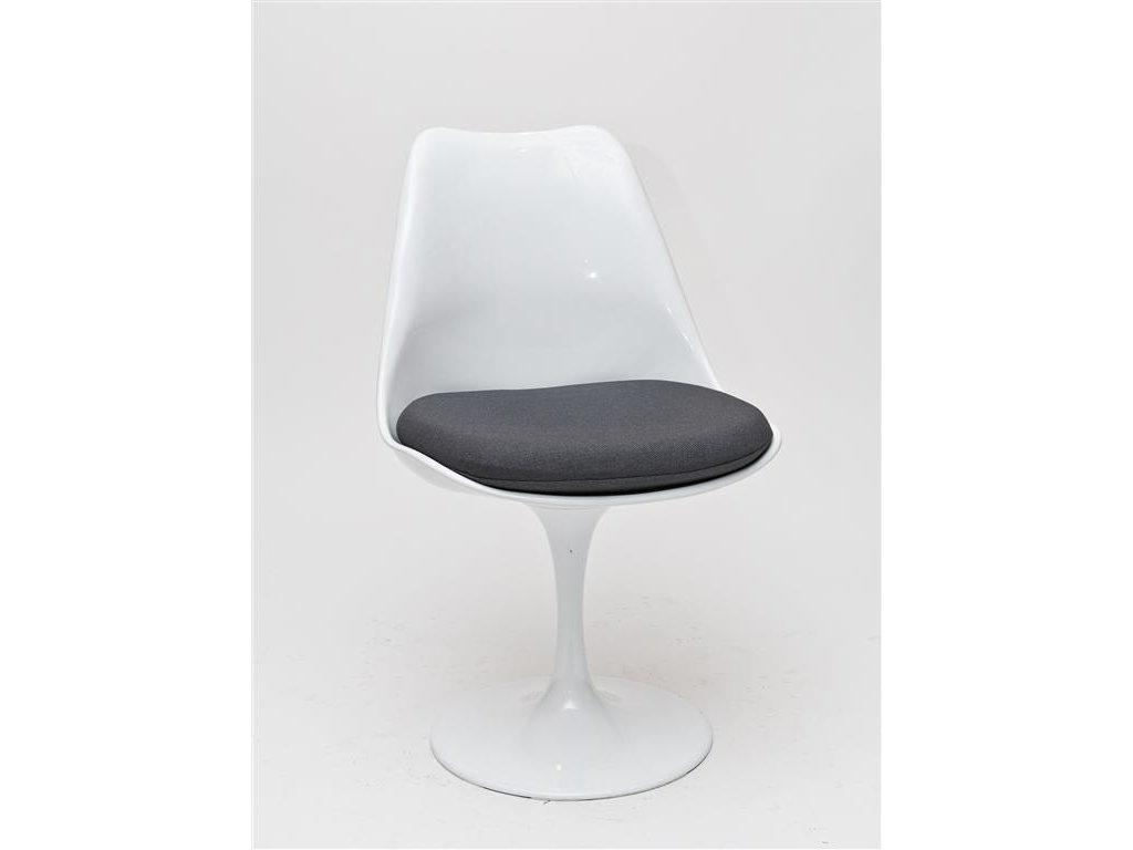 Stolička Tul biela / šedý vankúš