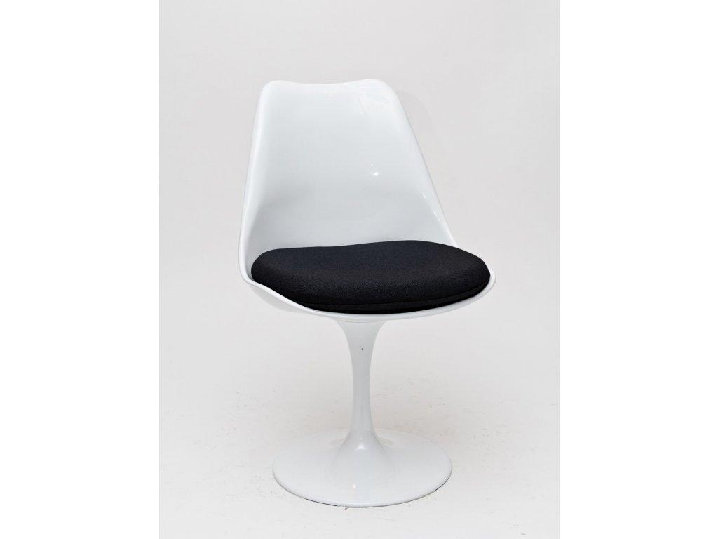 Stolička Tul biela / čierny vankúš
