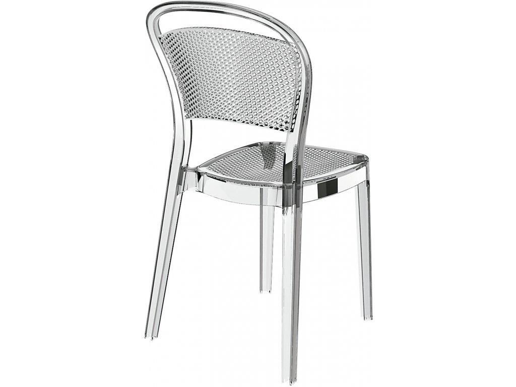 Stoličky Visual transparentná
