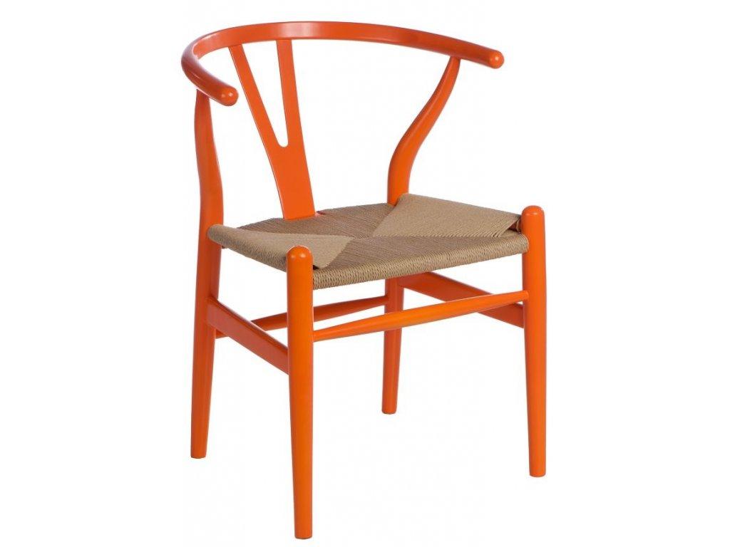 Stoličky Wicker Farba oranžová
