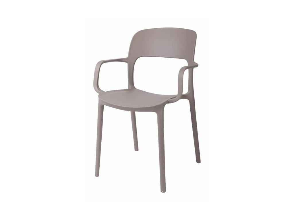 Stolička s opierkami Flexi mierne šedá