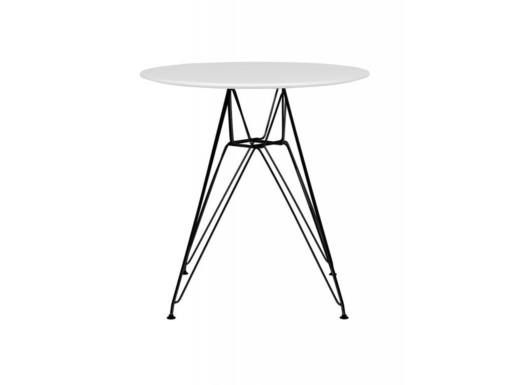 Stôl DSR FI 70 biely, doska MDF - lakovaný základ