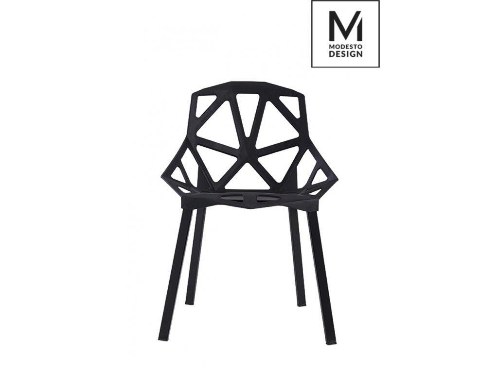 MODESTO stoličky SPLIT MAT čierna - polypropylén, kovový základ