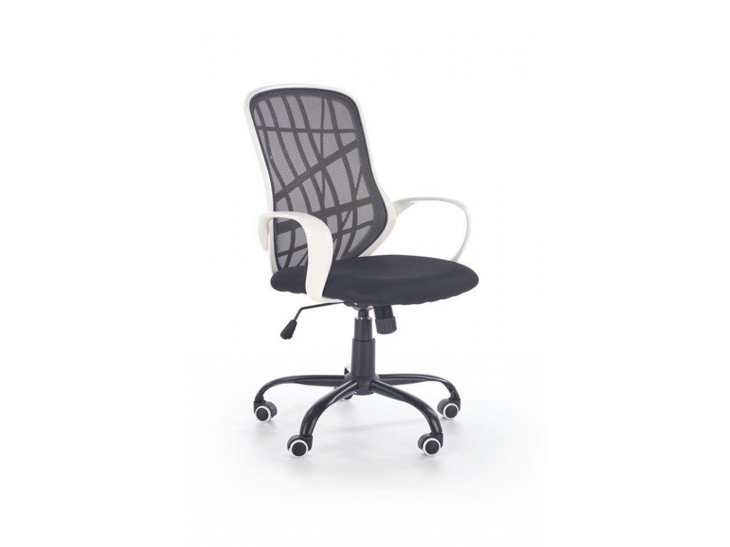 DESSERT kancelárske kreslo bielo - čierne