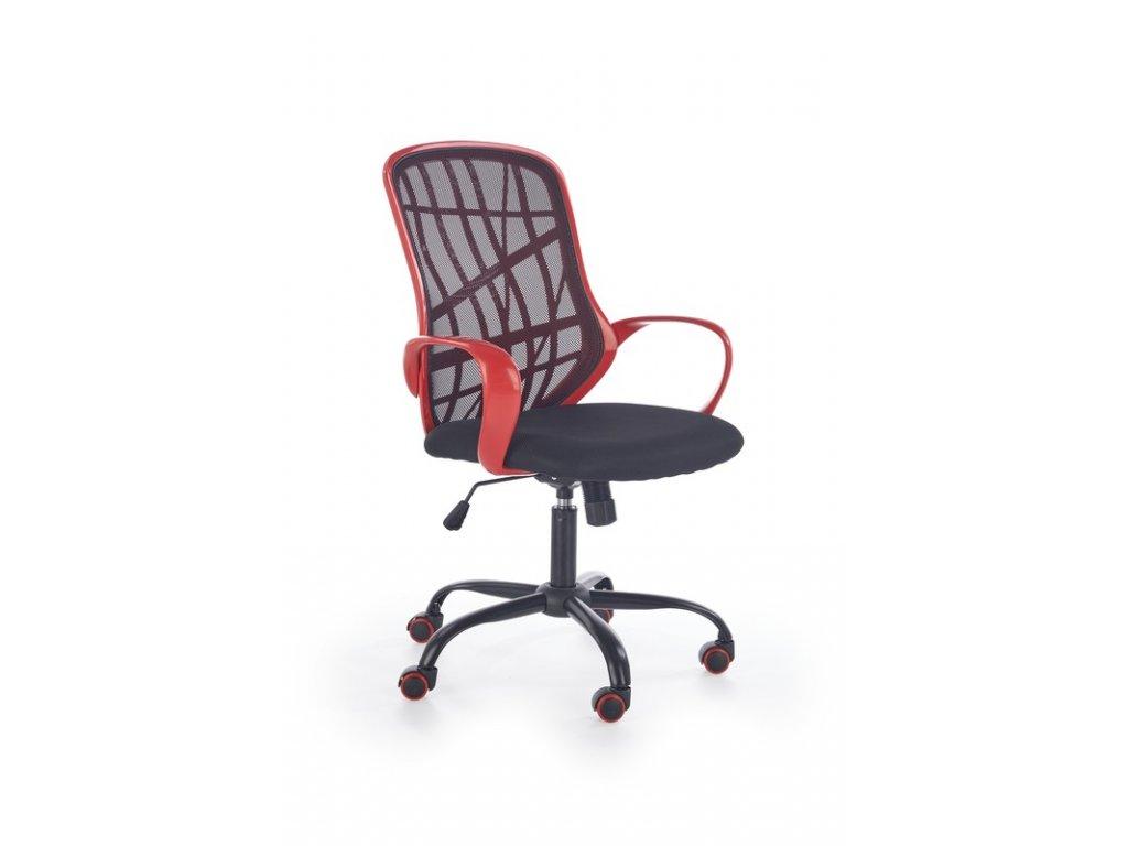 DESSERT kancelárske kreslo červeno - čierne