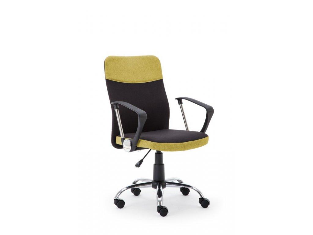 TOPIC kancelárske kreslo čierno - zelené