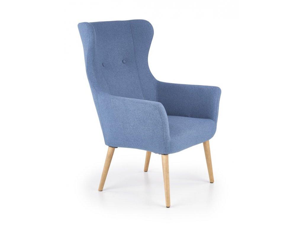 COTTON odpočinkovej kreslo modré