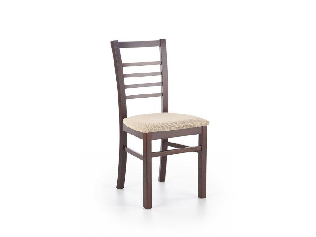 ADRIANA stoličky tmavý orech / polstrovanie: Torent Beige