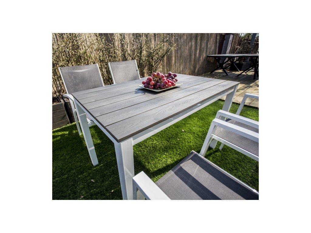 Hliníkový stôl 120x70 Toulouse