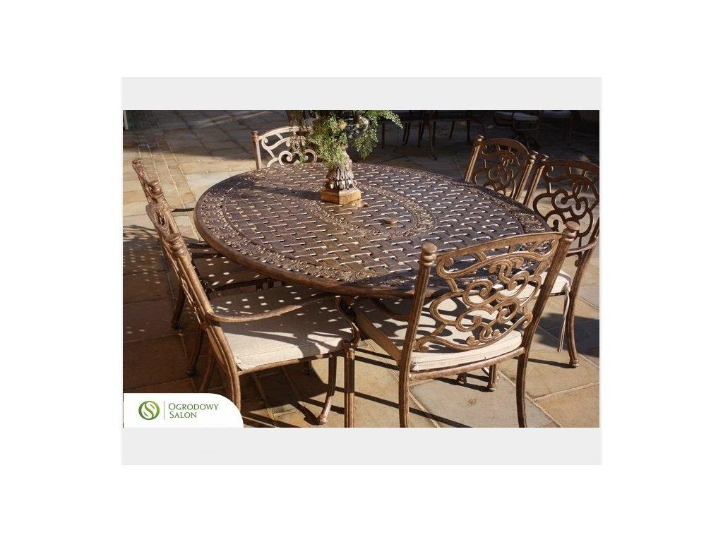 Oválny hliníkový stôl Manitoba